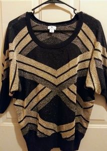 Vintage dolman sleeve sparkly sweater.